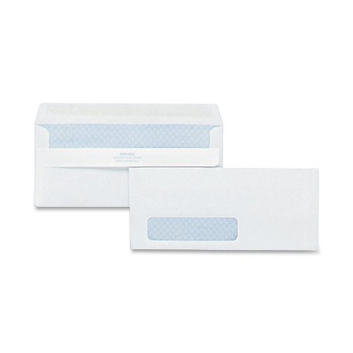 Quality Park 21418 Quality Park Redi-Seal Left-Window Security Tint Envelopes, #10, White, 500/Box (Envelope Self Seal 500 compare prices)