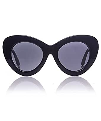 Le Specs Go Go Go Cat Eye Sunglasses Black One Size at