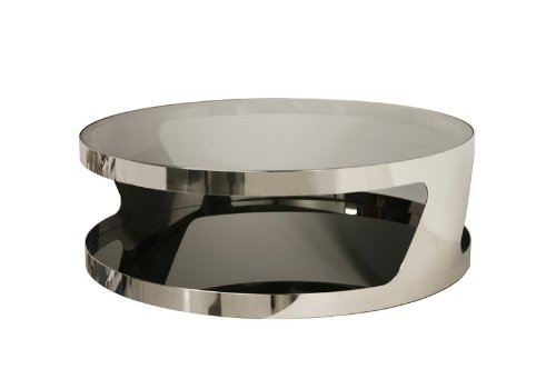 Best buy baxton studio genesis steel and tinted glass for Buy modern coffee table
