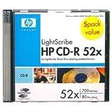 HP Hp Lightscribe 52X Cd-R Blank Disc'S 5 Pack