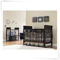 Graco Sarah Classic Two Piece Convertible Crib Set Crib And Changing Table  Espresso