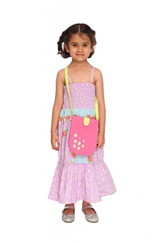 Fashion Rediscover Fashion Girl's Cotton Floral Long Dress(RCK-FR-08) (Multicolor)