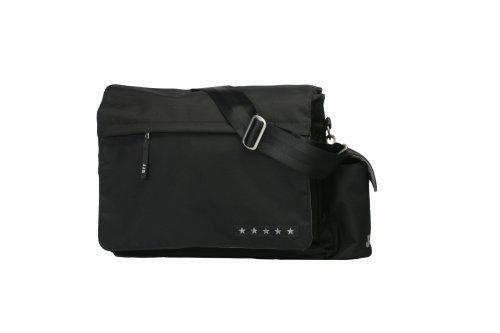 Ju-Ju-Be JJB Messenger Bag, Black/Silver
