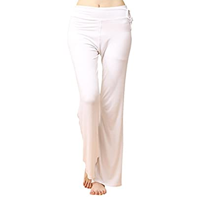 LIANTANG Womens Soft Loose Elastic Waistband Fitness Yoga Pants