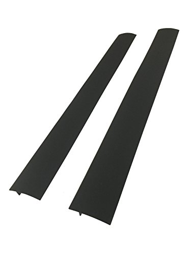 Capparis Kitchen Silicone Stove Counter Gap Cover, set of 2, Black (Stove Side compare prices)