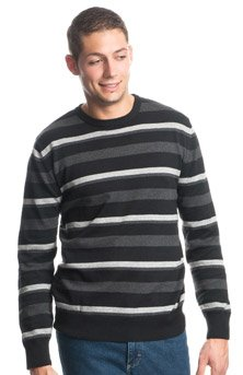 Tom Tailor Peer Striped Pullover, black, XXXL