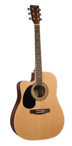Johnson Jg-624-Cen 620 Player Series Cutaway Acoustic Electric Guitar, Left-Handed