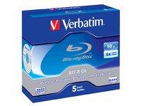 Verbatim Blu-Ray BD-R DL 50GB 5Pk 6x (43748)
