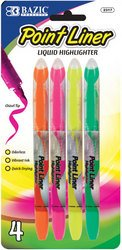 BAZIC Pen Style Fluorescent Color Liquid Highlighters (4/Pack) (Sold by 1 pack of 24 items) PROD-ID : 1820724 (Photocopying Machine compare prices)