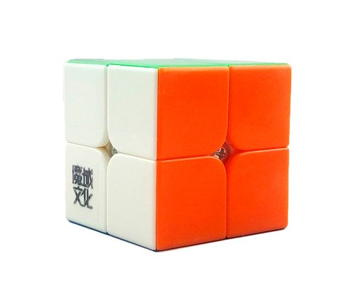 Yj Moyu Lingpo 2x2x2 5cm 6 Colors Stickerless Twisty Puzzle Speed Cube Puzzle Children Brain Toy Valentine's Day Birthday Holiday Gift