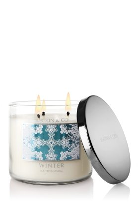 Bath & Body Works Slatkin and Co. Three Wick 14.5 Oz. Scented Candle - Winter