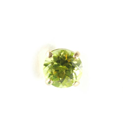 9ct Yellow Gold and Peridot Single Stud Earring, THIS IS A SINGLE EARRING!