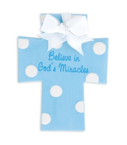 Believe in God's Miracles Blue Wall Cross - 1