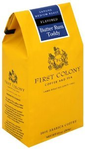 First Colony Coffee, Butter Rum Toddy Flavor (Package of 2)