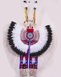 Super Deluxe Traditional Bustle Kit W/Hand Painted Eagle Feathers