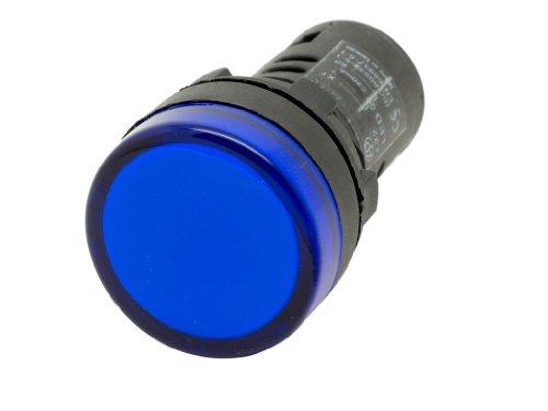 Alpinetech L22 Blue 22Mm 12V Dc Led Pilot Panel Indicator Light