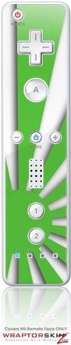 Wii Remote Controller Skin - Rising Sun Japanese Green by WraptorSkinzTM