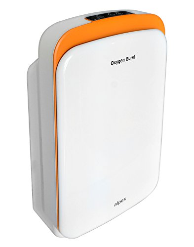 Oxygen Burst Portable Air Purifier (White & Orange) – Covers 600 Sq. Ft.