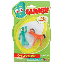 NJ Croce Mini Gumby and Pokey Action Figure 2-Pack