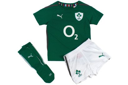 Ireland 2013/14 Home Rugby Boys Mini Kit Power Green/White
