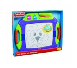 Improved Look With All The Same Great Features That Make Drawing With Doodle Pro Convenient - Fisher-Price Kid-Tough Classic Doodler with 2 Stampers - Purple