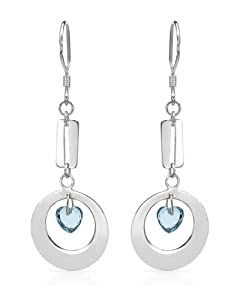 Genuine Morne Rouge (TM) Earrings. Cubic Zirconia Sterling Silver Heart Earrings - Material/Stone: Cubic Zirconia. 3.1 Grams in Weight and 54 mm in Length. 100% Satisfaction Guaranteed.