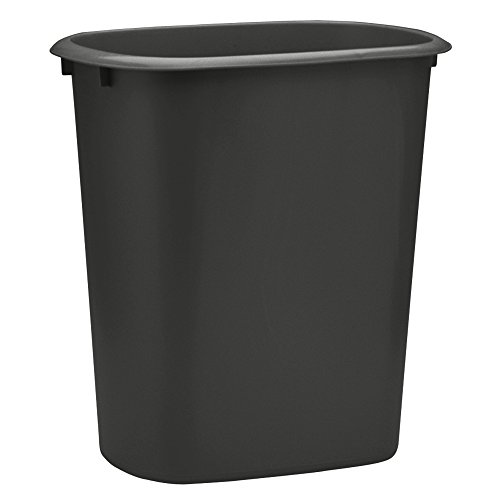 United Solutions WB0172 24-Quart Kitchen Laundry or Office Trash Can, 6 Gallon, Black (Black Trash Can Office compare prices)