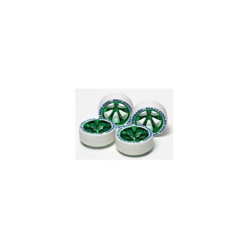 フルカウルミニ四駆20周年記念 ホワイトタイヤ&グリーンメッキホイール