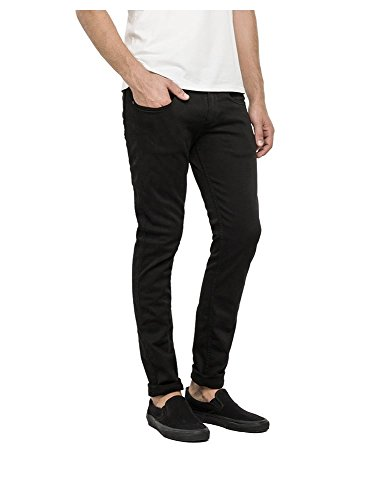 REPLAY Anbass Slim Fitting Hyperflex Jean Schwarz