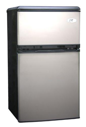 Sunpentown RF-320S 3-1/5-Cubic-Foot Double-Door Refrigerator, Stainless