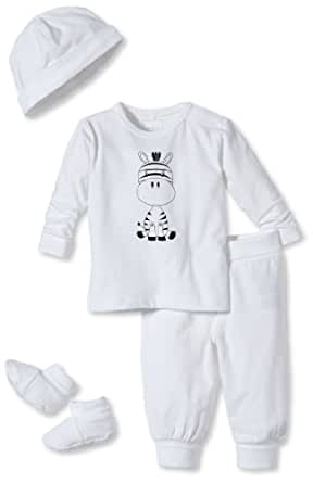 NAME IT Ensemble  Mixte bébé - Blanc - Weiß (Bright White) - FR : 6 mois (Taille fabricant : 68)