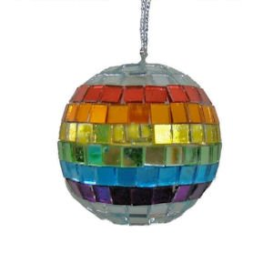 Gay Rainbow Sisters Disco Ball Rear View Mirror Decoration - 1