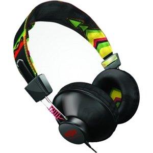 House Of Marley Em-Jh013-Ra On Ear Headphone Mic Rasta 3 Button Control W/ Carry Bag