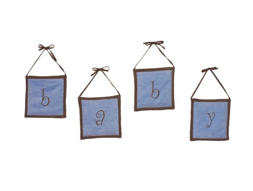 Pam Grace Creations Baby Wall Hangings in Blue /Chocolate