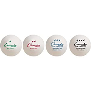 Champion sports 2 star tournament 40 mm table for 1 star table tennis balls