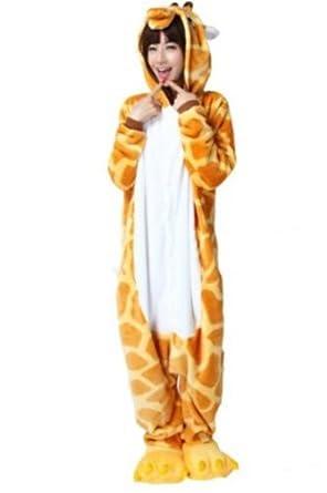 Ninimour- Pajamas Anime Costume Adult Animal Cosplay (S, Giraffe)