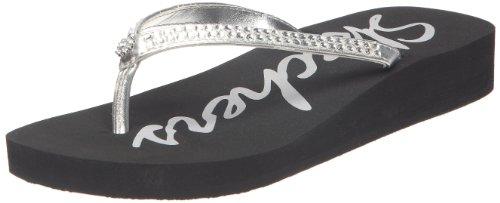 Skechers Women'S Beach Read Thong Sandal,Silver,5 M Us front-1030326