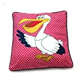 Kids Bed Cushion Cover - Bird With Polka Dot Print