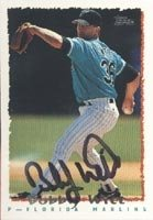Bobby Witt Florida Marlins 1995 Topps Autographed Hand Signed Trading Card. by Hall+of+Fame+Memorabilia