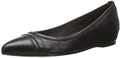 FRYE Women's Alicia Ballet Flat,Black,5.5 M US