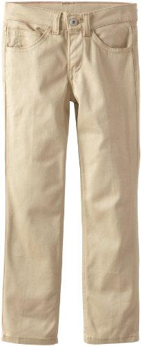 Dickies Big Girls' 5-Pocket Stretch Twill Pant, Desert Sand, 10