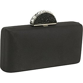 Carlo Fellini - Natalie Evening Bag Elegant Evening Baguette Clutch Purse Hard Case Chain Bag Evening Wedding Party Clutch Purse Wallet Handbag with Beaded Snap Closure and Shoulder Strap (41 950)