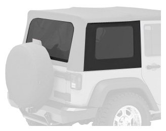 Bestop 58130-35 Black Diamond Tinted Window Kit For Bestop Sailcloth Replace-A-Top, 07-10 Wrangler Jk Unlimited