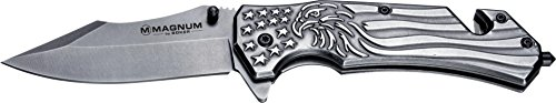 Boker Magnum 01RY188 Freedom Folder Knife with 3 1/2 in. 440 Stainless Steel Blade, Grey