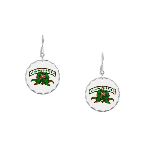 Earring Circle Charm Marijuana Best Buds
