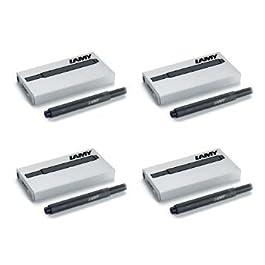 Lamy T10 Noir Cartouches d'encre pour stylo-plume - 4 Paquets de 20 cartouches)