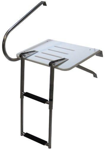 Amarine-made Boat Out-board Swim Fiberglass Platform with 2-steps Ladder