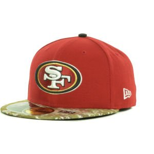 New Era San Francisco 49ers Salute To Service On-Field 59FIFTY Fitted Performance Hat - Scarlet/Digital Camo at Amazon.com