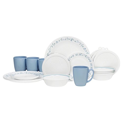 Corelle Livingware 32-Piece Country Cottage Dinnerware Set,Service for 8 (32 Piece Corelle Dinnerware Set compare prices)