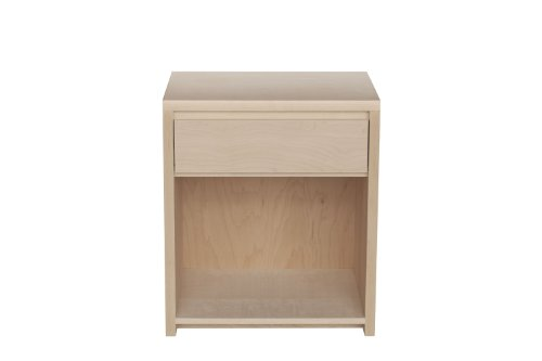Urbangreen Furniture Thompson Contemporary Nightstand Unfinished Maple